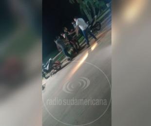 foto: Otra violenta pelea en una playa de Goya quedó registrada en video
