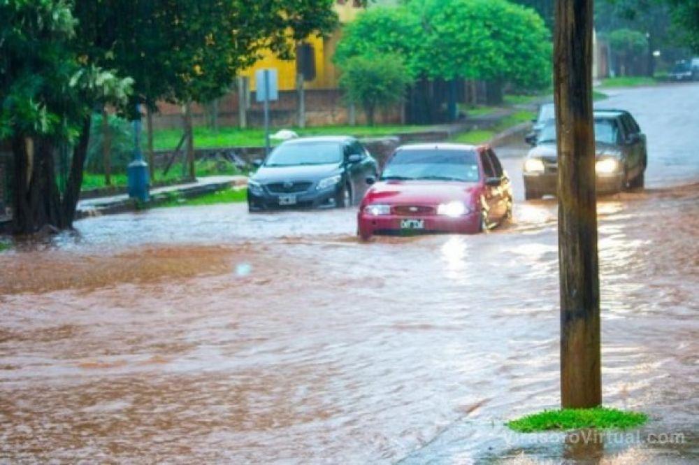 foto: Temporal: en Virasoro cayeron 160 milímetros de agua en pocas horas
