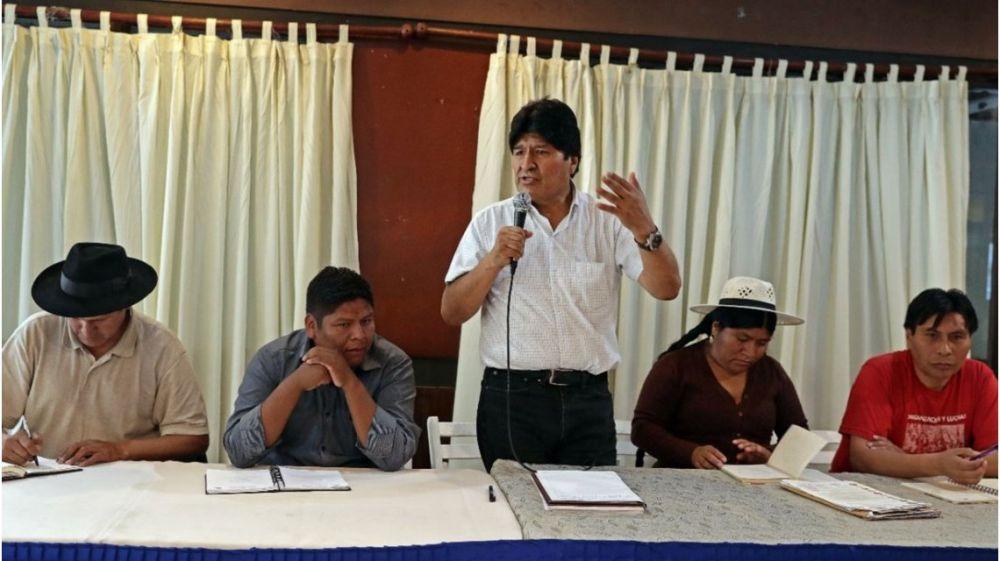 Evo Morales anunció la fórmula presidencial del MAS