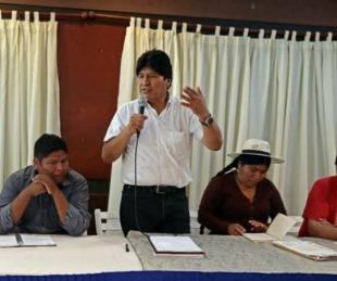 foto: Evo Morales anunció la fórmula presidencial del MAS