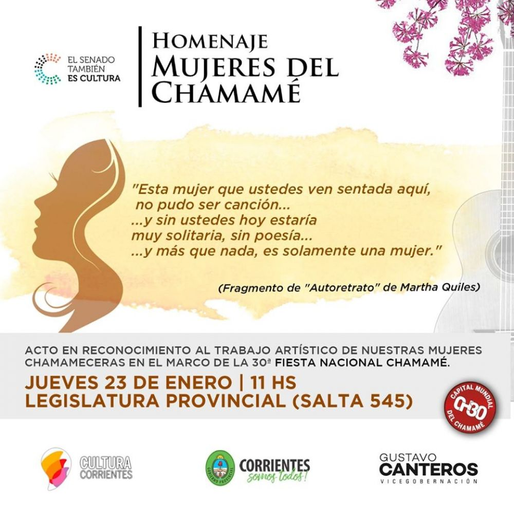 Gustavo Canteros homenajeará a las mujeres del chamamé