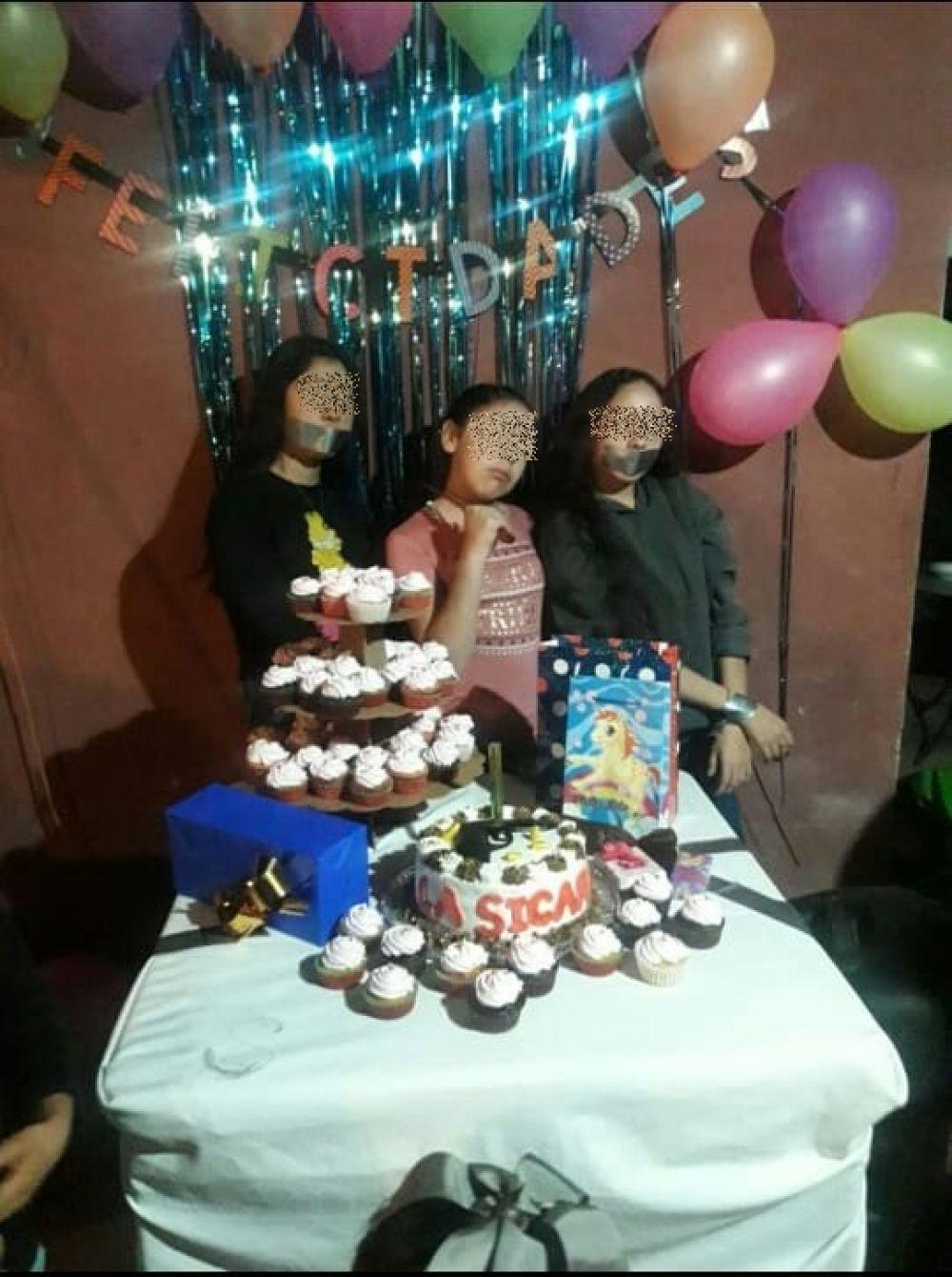 La Sicaria, niña festeja su cumpleaños con temática de narcotráfico