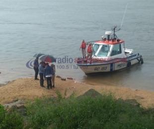 foto: Prefectura encontró el cuerpo de la mujer que se arrojó al río