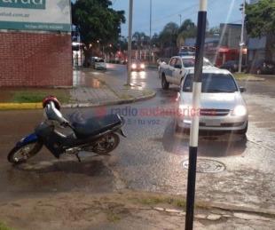 foto: Una motociclista con lesiones leves tras accidentes de tránsito