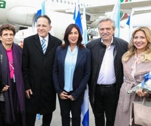 foto: Fernández llegó a Israel para honrar a víctimas del Holocausto