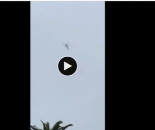 foto: El helicóptero de Kobe Bryant minutos antes del accidente