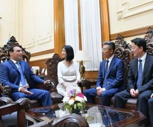 foto: Valdés presentó su política de desarrollo a inversores chinos