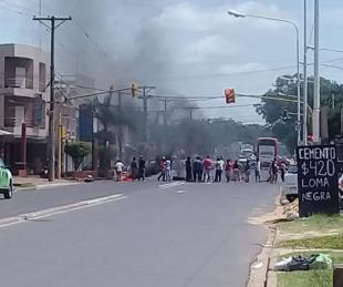 foto: Vecinos de tres barrios cortaron Av. Maipú por obras de infraestructura