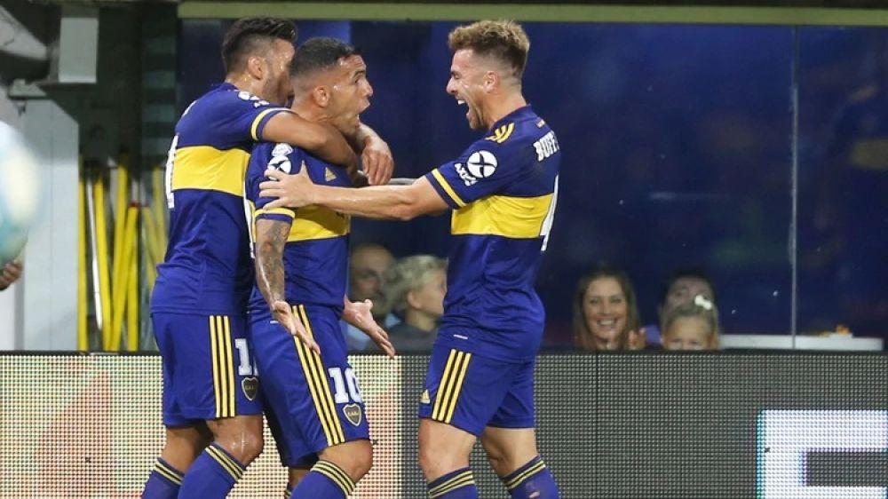 foto: Boca goleó a Godoy Cruz y no le pierde pisada a River