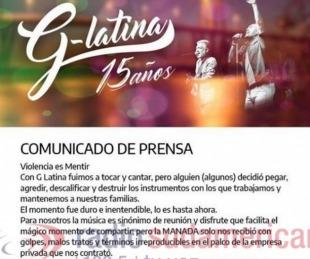 foto: El descargo de G-Latina tras la agresión:
