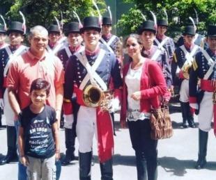 foto: Santaluceño era recolector para poder estudiar y ahora integra la banda de Patricios