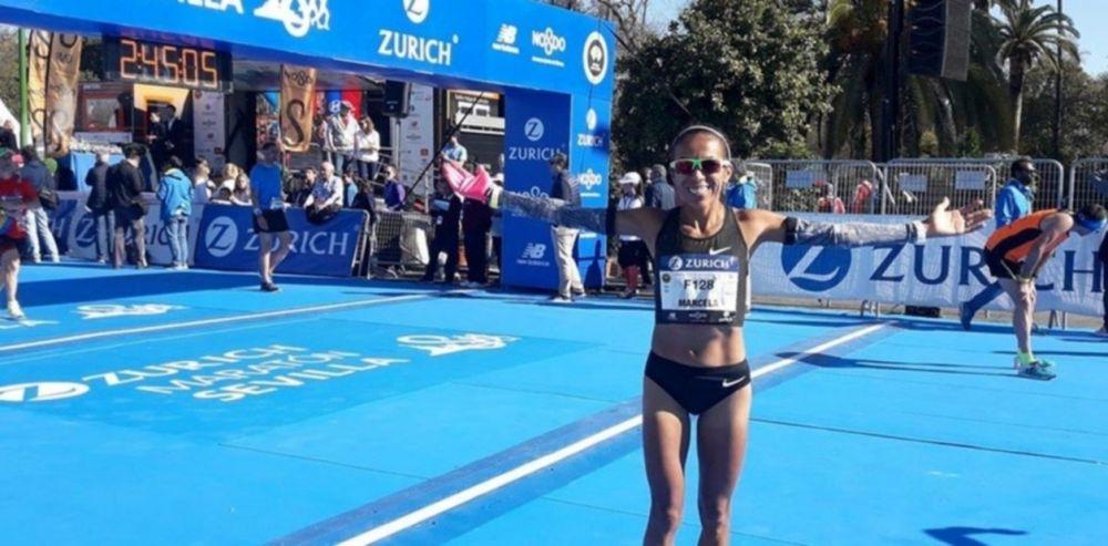 foto: Una correntina pulverizó el récord argentino de maratón