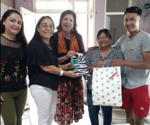 foto: Asociación sanmartiniana apadrinó al primer bebe nacido el 25 de febrero