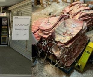 foto: Un supermercado quería vender una tonelada de carne podrida