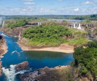 foto: Cataratas del Iguazú desoladas: tiempo de sequía y pandemia