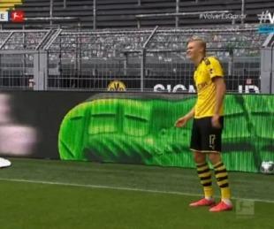foto: Bundesliga: el insólito festejo con distancia social