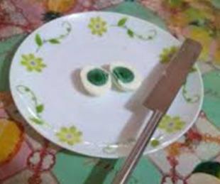 foto: El misterio de la gallina que pone huevos con la yema verde