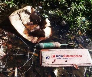 foto: Niños hallaron un artefacto explosivo en Monte Caseros