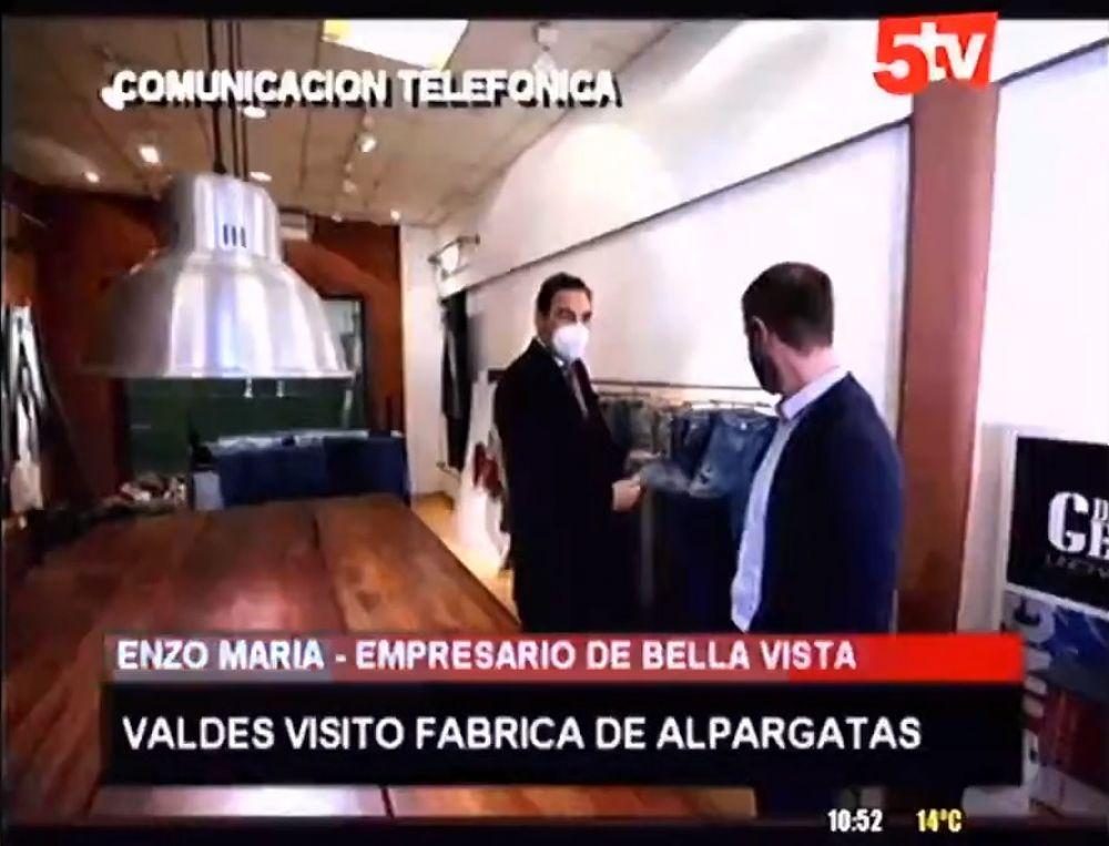 foto: Textil bellavistense podría proveer telas a productores locales