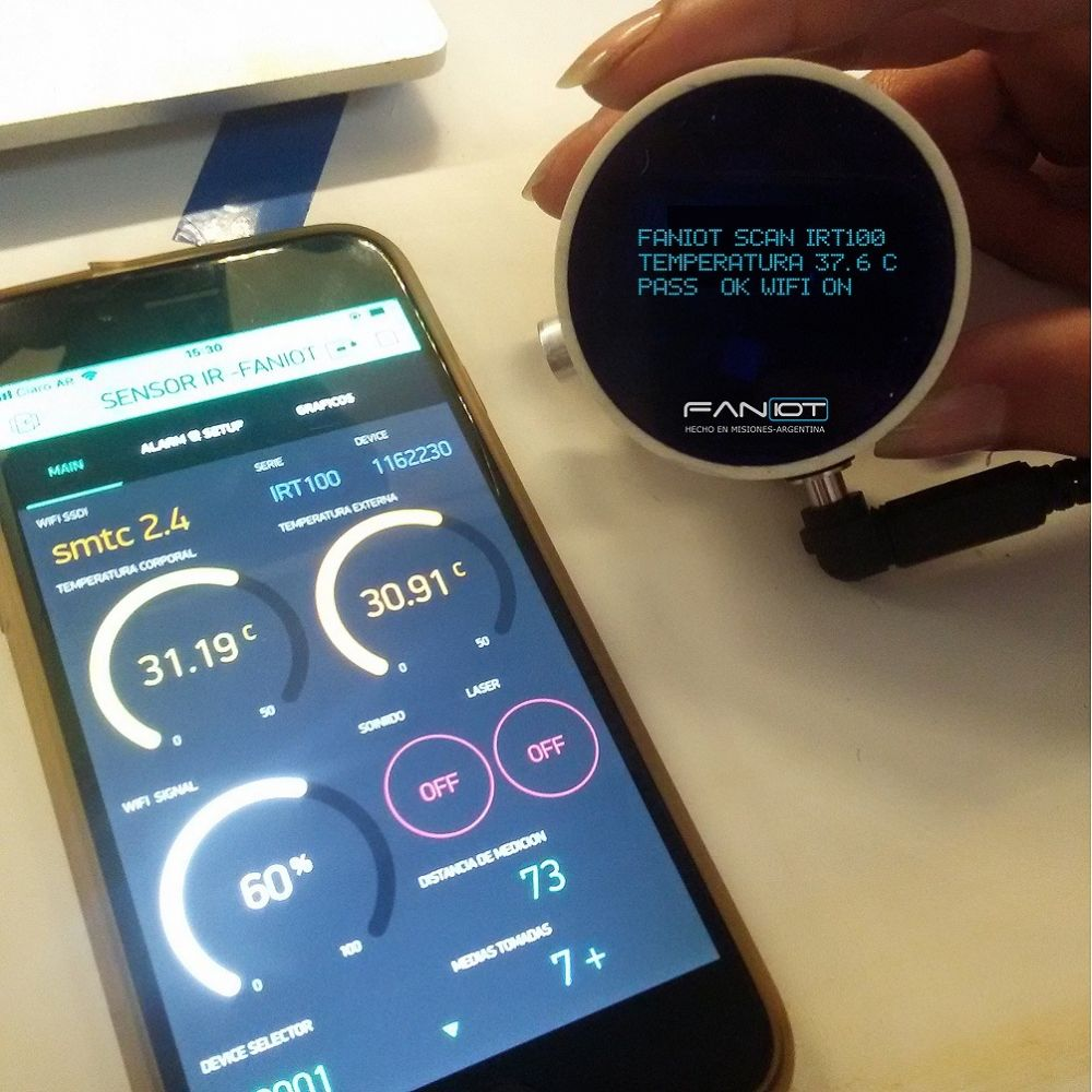 Misiones: fabrican los primeros termómetros inteligentes del país