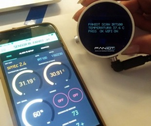 foto: Misiones: fabrican los primeros termómetros inteligentes del país