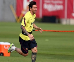 foto: Messi no se baja: se mostró recuperado y jugaría contra Mallorca