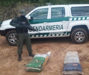 foto: Gendarmes hallaron 92 kilos de marihuana durante un patrullaje