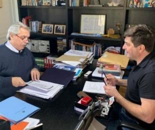 foto: Alberto Fernández y Delgado analizaron el caso Vicentin