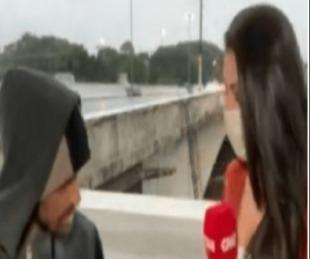 foto: Asaltaron con un cuchillo a  periodista en plena transmisión en vivo