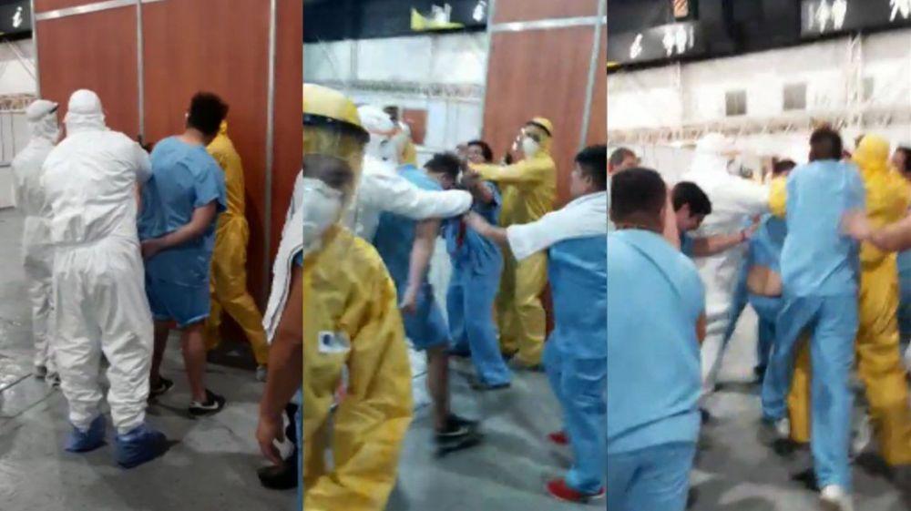 Un paciente con coronavirus robó un celular y casi lo linchan