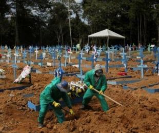 foto: Brasil: registran más de mil muertos en las últimas 24 horas