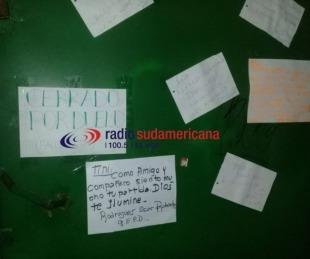 foto: Tras muerte del canillita, vecinos dejaron sentidos mensajes de despedida