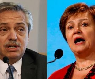 foto: Fernández y Kristalina Georgieva analizaron la oferta a los bonistas