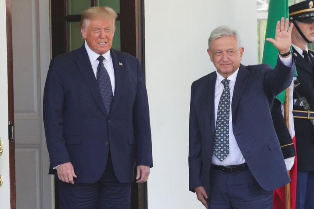 Histórico encuentro entre Donald Trump y López Obrador