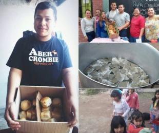foto: Vende pan casero para hacerle la merienda a los chicos del barrio