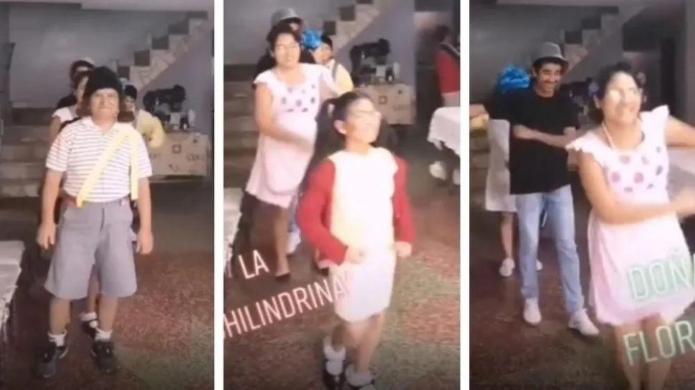 Una familia parodió a El Chavo del 8 y fue furor en TikTok