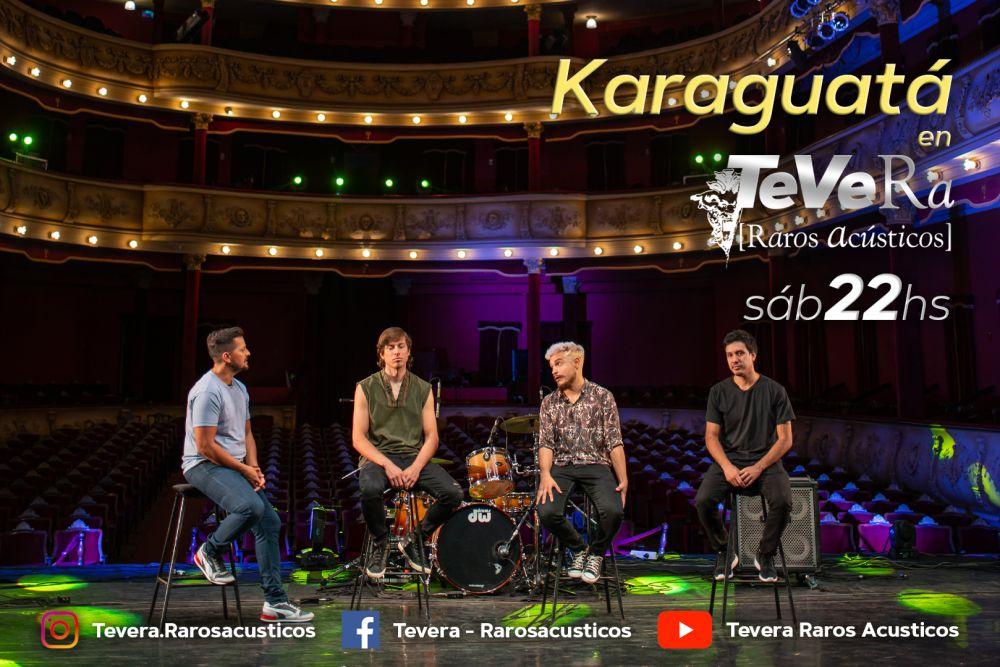 Karaguatá y su rock litoraleño llegan a Tevera-Raros Acústicos