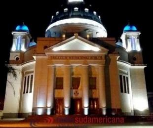 foto: La Basílica de Itatí desierta en medio de los festejos del 16 de julio