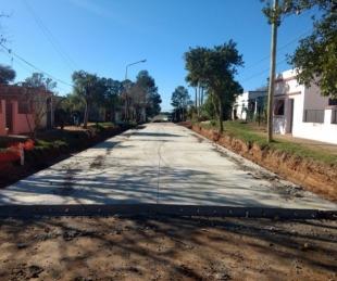 foto: Provincia ya pavimentó 13 cuadras de las cuarenta previstas en Berón de Astrada