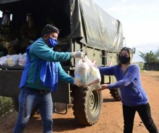 foto: El Ejército apoya a Ascúa en la distribución de alimentos