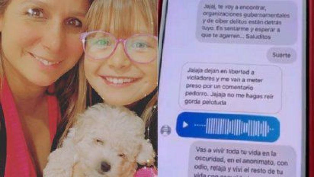Fernanda Vives fue insultada por el pedófilo al que denunció por acosar a su hija
