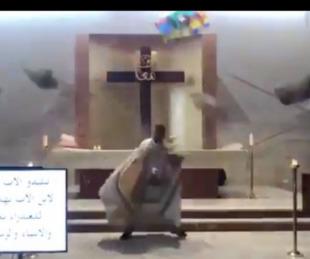 foto: Así se vivió la explosión en Beirut durante una misa televisada