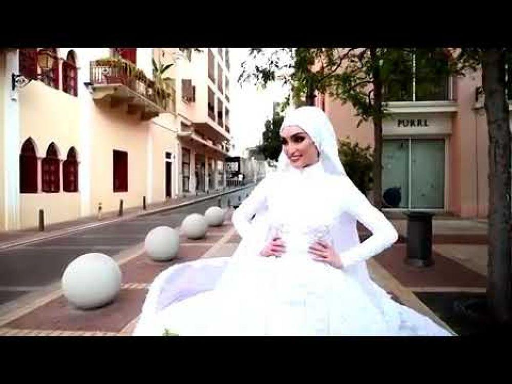 La explosión de Beirut interrumpe la sesión de fotos de una novia