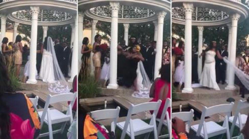 Una mujer interrumpió la boda y dijo que estaba embarazada del novio