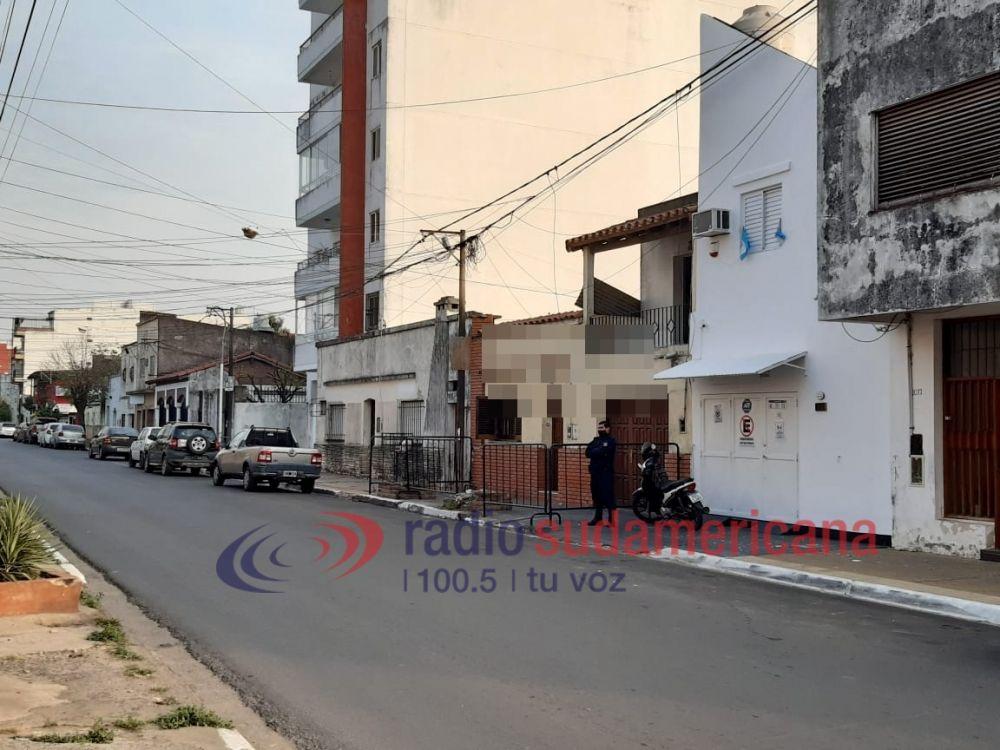 Activan protocolo y vallan una vivienda en el barrio Libertad
