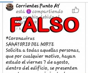 foto: Sanatorio del Norte desmiente un comunicado en redes sociales