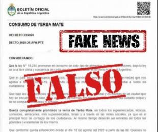 foto: INYM: Es falsa la supuesta prohibición de venta de yerba