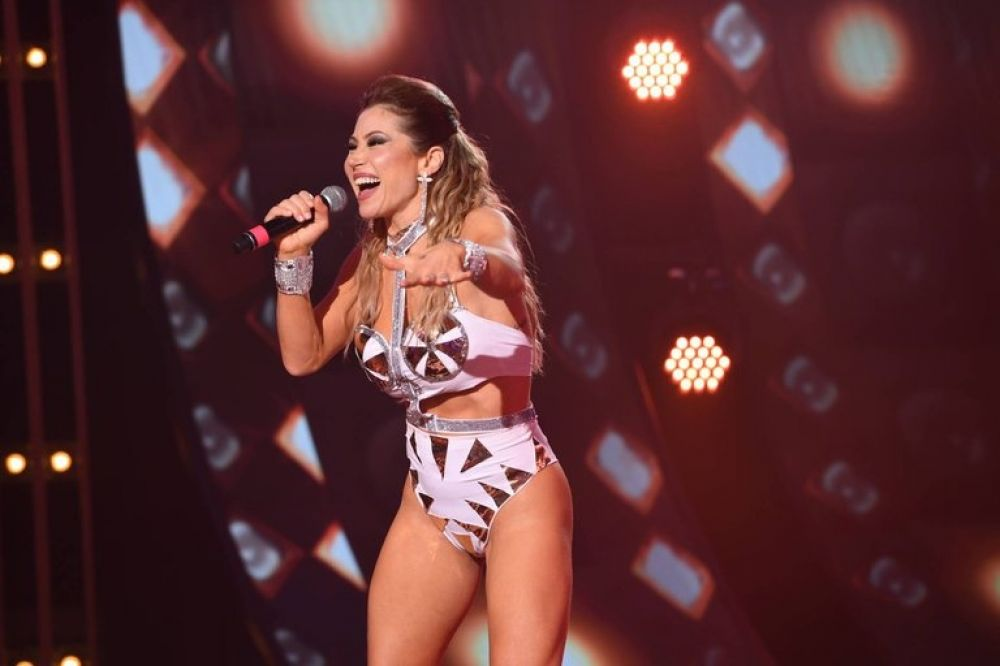 La fuerte caída de Adabel Guerrero en el Cantando 2020