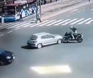 foto: El video del impactante accidente de Nacho Viale en moto