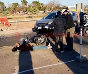 foto: Por accidente,  piden precaución en zona de la Rotonda de la Virgen